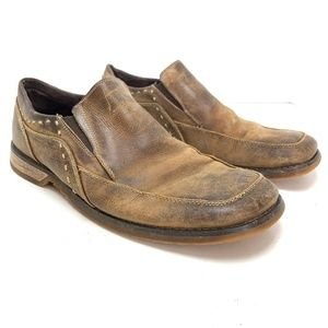 BED STU Rustic Leather Loafers Distressed Shoes 11